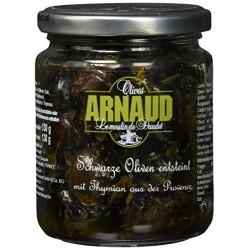 Olives noires aromatisées au thym de Provence