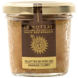 Rillettes de porc bio ananas curry