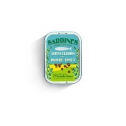 Sardines à l'huile d'olive vierge thym citron