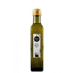 Huile d'olive aromatisée au basilic