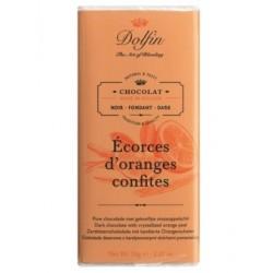 Noir écorces d'oranges confites
