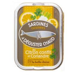 Sardines chaudes citron confit et coriandre