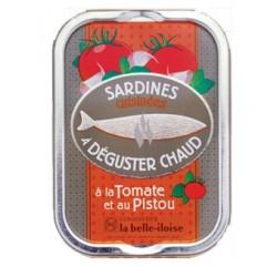 Sardines chaudes à la tomate et au pistou