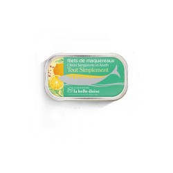 Filets de maquereaux citron bergamote et aneth