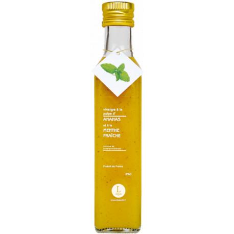 Vinaigre à la pulpe d'ananas et menthe fraiche